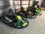 (4) Velocity Motorsports Electric Go Carts w/ Charher