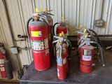 Group of fire Extinguishers