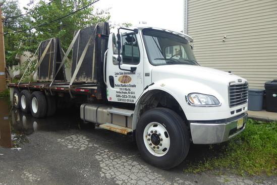 2014 Freightliner M2 106 Tri-Axle Flatbed Truck