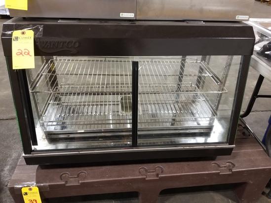 "Advantco 36"" Countertop Heated Display Warmer"