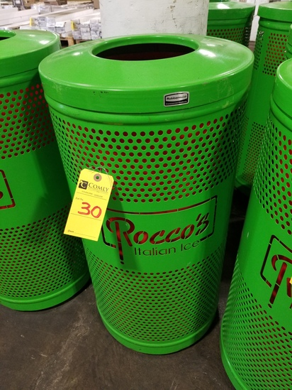 Rubbermaid Silhouettes Round Designer Recycling/Trash Receptacle