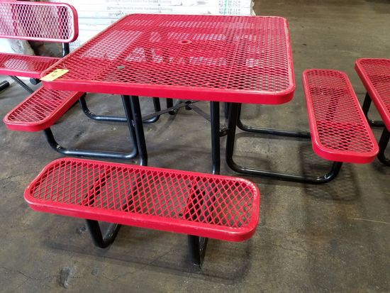 Rubber Coated Picnic Table