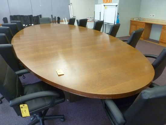 Laminate Oval Conference Table, 18'