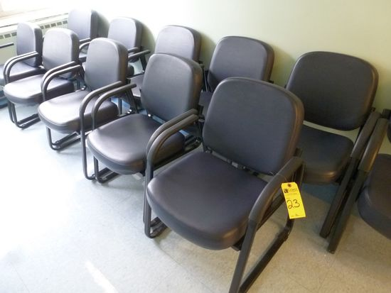 Padded Seat/Back Metal Frame Arm Chairs