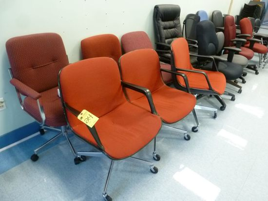 Upholstered Swivel Arm Chairs