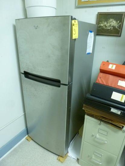 Whirlpool S.S. Refrigerator, Metal 2-Drawer File, Etc.