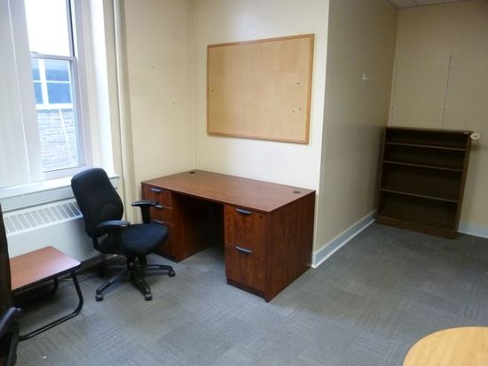 Wood Laminated Double Pedestal Desk, 5', Office Chair, Etc.
