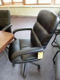 Black Upholstered Tilt/Swivel Chairs