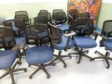 Mesh Back Upholstered Swivel Chairs
