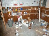 Contents of Room: Paints, Stains, Parts, Ballasts, Bulbs, Etc.