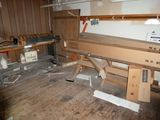 Contents of Entry Area: Wood Top Metal Frame Work Table, Etc.