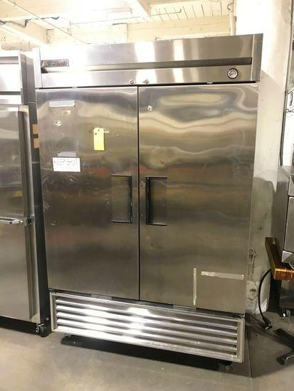 True Stainless Steel Solid Double Door Upright Freezer