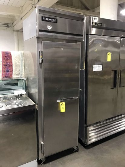 Continental Stainless Steel Solid Single Door Upright Refrigerator