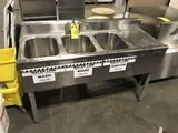 Eagle Stainless Steel Triple Bowl Bar Sink