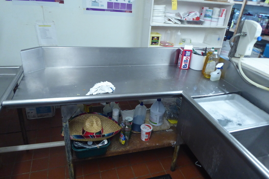 "Dishwashing ""L"" Shape Sink, 12'L"