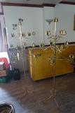 13-Candle Brass Candelabras