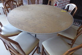 Wood Round Folding Tables, 6'