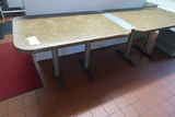 Leather Top Tables, 4'x3'