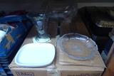 Glass Plates, Bowls, Cups, Etc.