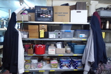 Contents of Rack: Candles, Candle Holders, Picture Frames, Etc.