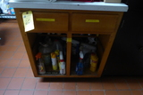 Cabinet w/Contents: Forks, Spoons, Ladle's, Etc.