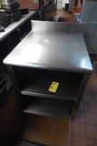 Stainless Steel Table w/Shelf, 2'x3'