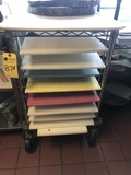Rolling Carts w/Cutting Boards