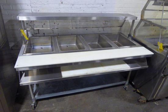 "Eagle Group 64"" Portable 4-Pan Steam Table"