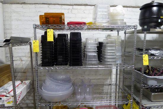 Plastic Trays, Bowls, Pitchers, Etc.