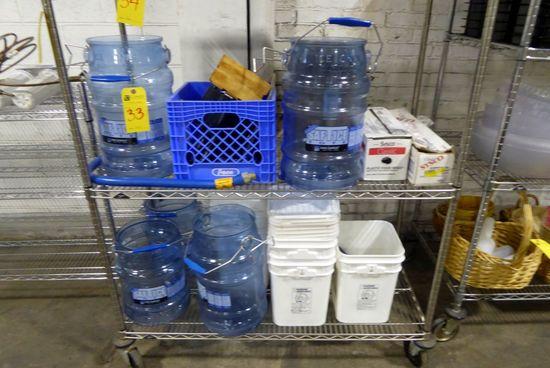Ice Buckets, Plastic Wrap, Foil, Etc.