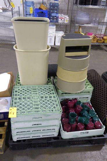 Coffee Cups, Dishwasher Trays, Trash Can, Etc.