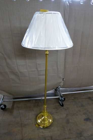 Baldwin Brass Solid Brass Floor Lamp w/Shade