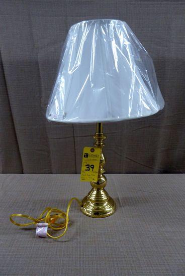 Baldwin Brass Solid Brass Table Lamp w/Shade