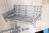 Night & Day Furniture LTRI-FUL-JAV Trinity Full Size Wood Frame Futon