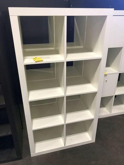 Wood Shelfs, 8-cubby, White