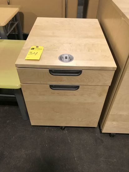 Wood 2-drawer Combination File Cabinet