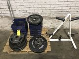 Barbell Weight Plates w/Rack