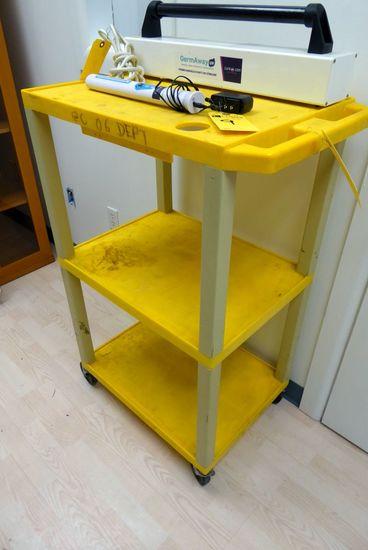 3-Shelf Plastic Cart