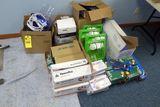 Eye Wash Stations, Vinyl Gloves, Tape, Etc.