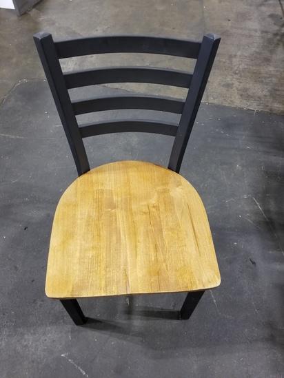 Metal Frame Wood Seat Chairs
