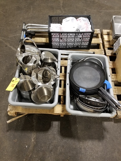 Frying Pans, Water Pitchers, Etc.