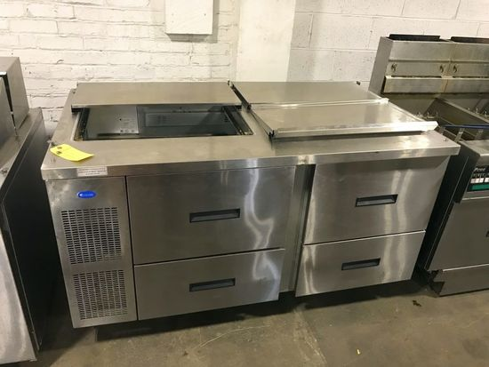 """Randell 60"""" Refrigerated Prep Station w/Refrigerated Cabinet"""