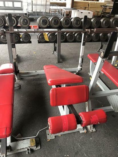 Streamline Decline Weight Lifting Bench w/Bar