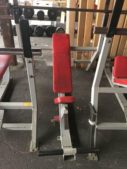 Streamline Incline Weight Lifting Bench w/Bar