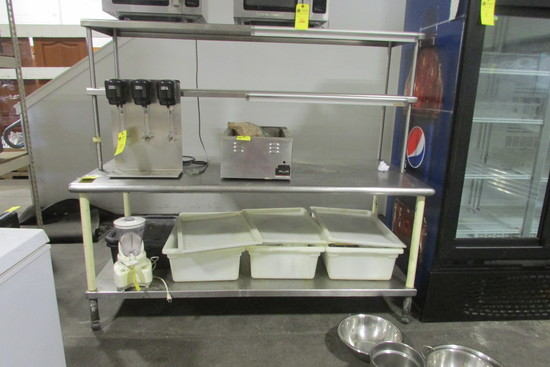 Stainless Steel Prep Table w/Overshelf