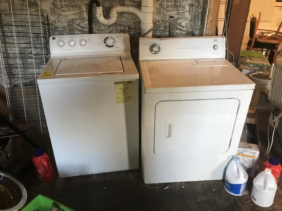 GE Washer & Roper Electric Dryer