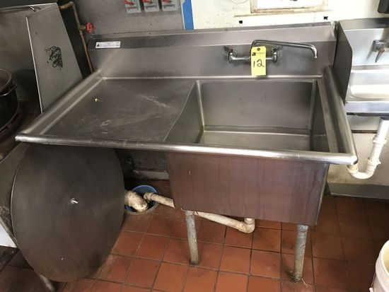 Stainless Steel Single Bay Sink