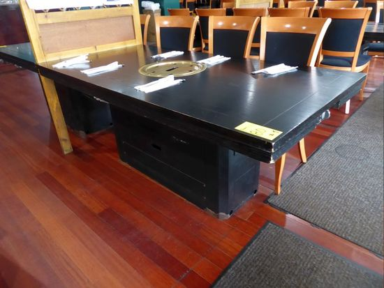 Wood Top Tables w/Gas Insert