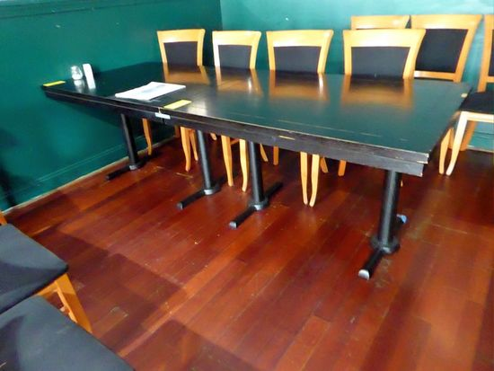 Wood Top Pedestal Tables
