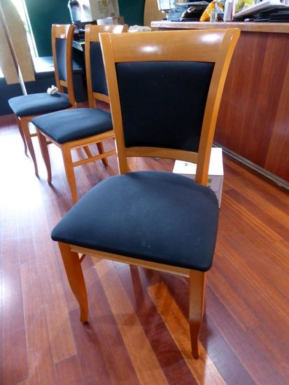 Wood Framed Cushioned Dinner Chairs